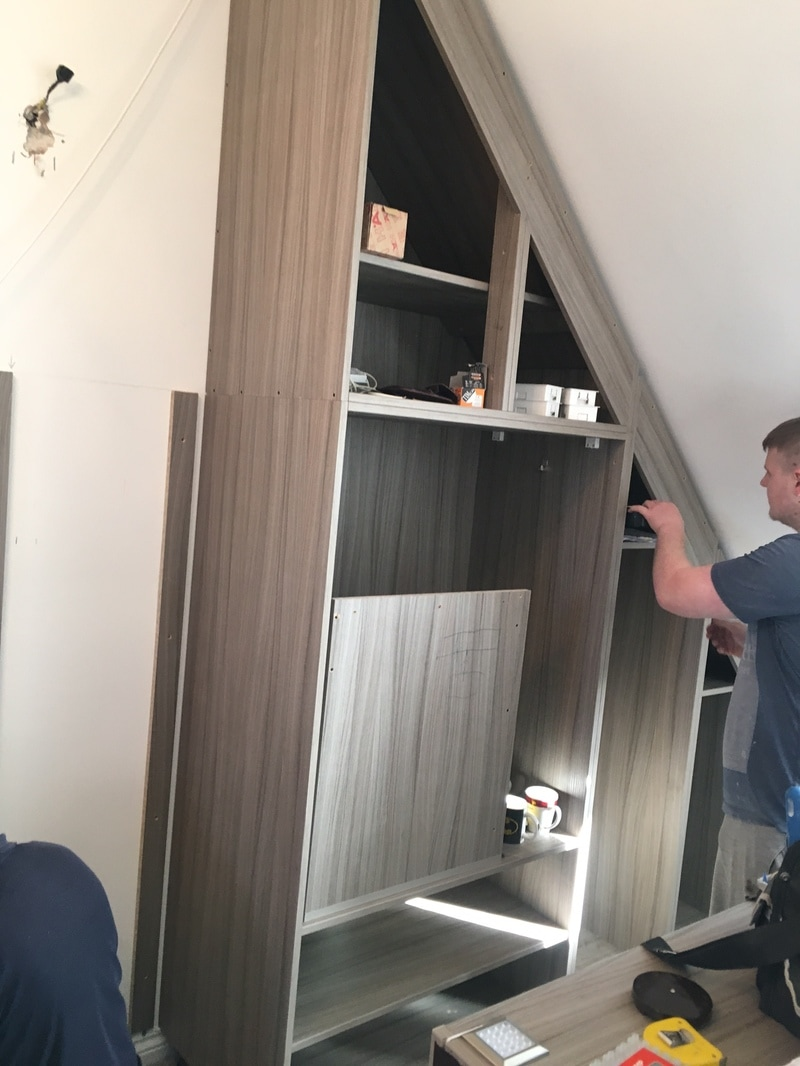 Building bespoke cupboard for loft conversion Warrington
