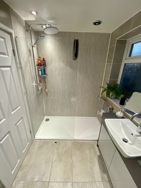 Fabulous New Bathroom Complete With Walk in Shower in Leigh